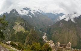 widok z Wayna Picchu